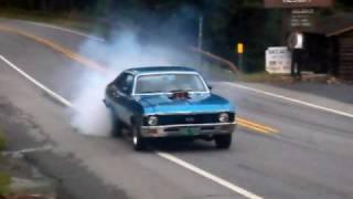 Chevrolet Camaro and Chevrolet Nova Burnout