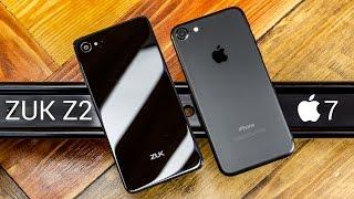 iPhone 7 vs ZUK Z2 сравнение. Китай или А-бренд? Эпичная битва! Стоит ли переплачивать за яблоко?