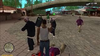 GTA San Andreas - Ballas vs Grove