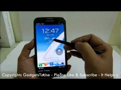 Galaxy Note 2 Lock Screen Tips. Tricks and Hidden Features Explained