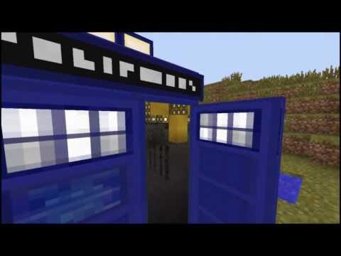 Minecraft TARDIS Video Effects Bigger on the inside