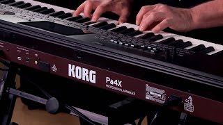 Korg Pa4X Arranger Workstation Keyboard Performance with Steve McNally
