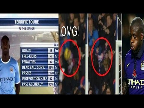 Yaya toure hits girl in the face with ball