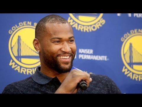 Warriors introduce new center DeMarcus Cousins