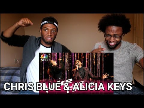 """The Voice 2017 Chris Blue and Alicia Keys - Finale: """"Diamonds and Pearls"""" (REACTION)"""