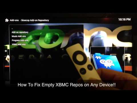 How to  Fix Empty Repos in XBMC (any device or computer)