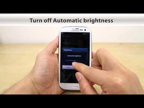 How to Adjust the Brightness on Samsung Galaxy S3 (aka S III S 3)