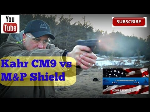 Kahr CM9 vs M&P Shield (Best Concealed Carry Gun) - TheFireArmGuy