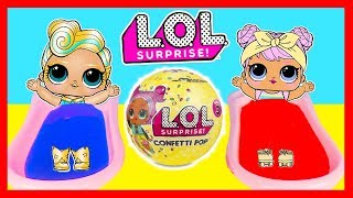 Bedtime Routine for LOL SURPRISE Luxe Fizz and Slime Pool | Ellie Sparkles