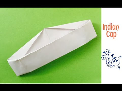 Origami Paper Indian Cap(Gandhi / Jawaharlal Nehru Topi) - A4 sheet !!