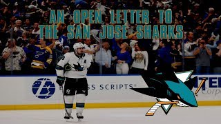 An Open Letter to the San Jose Sharks