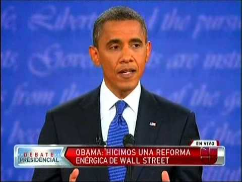 PRIMER DEBATE A PRESIDENCIA 2012: OBAMA VS ROMNEY (UNIVISION ESPAOL FULL)