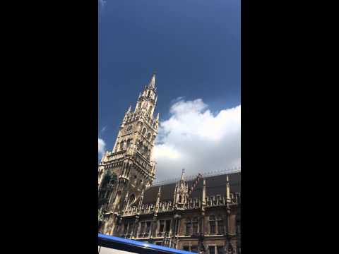 Munich city, the bell sound every hour, and the 12 o'clock midday performance. The City Hall