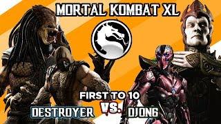 OMG DESTROYER IS OP AF -  MKX Destroyer (Tremor, Predator) Vs DjOn6 (Sektor, Shinnok) - Gameplay