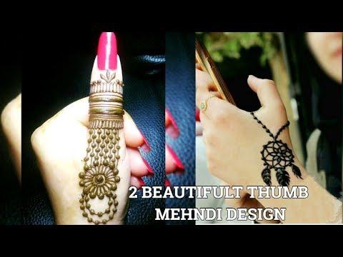 2 Thumb mehndi/henna tattoo Design Tutorial|Thumb mehndi design|Latest Thumb Tatto Design|
