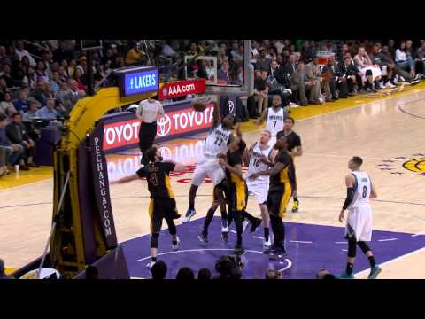 Andrew Wiggins Steals and Soars Over the Lakers for the Jam