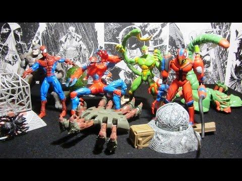 Человек-Паук 1994. 13 волна Web Trap. Распаковка и обзор фигурок (игрушек) фирмы Toy Biz. Марвел.