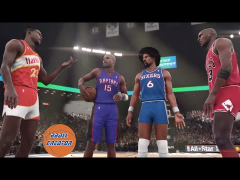 BEST SLAM DUNK CONTEST EVER! Michael Jordan, Dominique Wilkins, Vince Carter, Julius Erving NBA 2K16