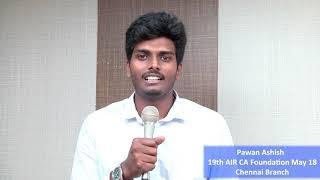 Pawan Ashish 19th AIR CA Foundation May 18 Chennai Branch