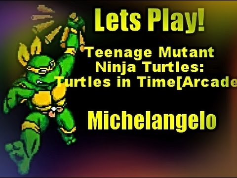 Teenage Mutant Ninja Turtles - Turtles in Time (4 Players ver UAA) - Turtles in Time Arcade-Michelangelo - User video