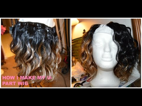 How To: Make A U-Part Wig Using Hot Glue Gun