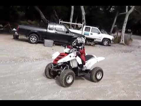 Yamaha raptor 50cc quad ride 3 youtube for Yamaha raptor 50cc