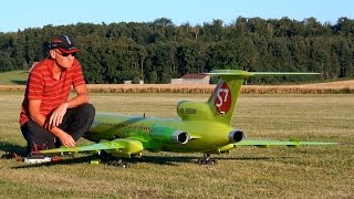 TUPOLEV TU-154-M S7 SIBERIA AIRLINES GIANT RC AIRLINER MODEL JET DEMO FLIGHT / RC Airshow 2015