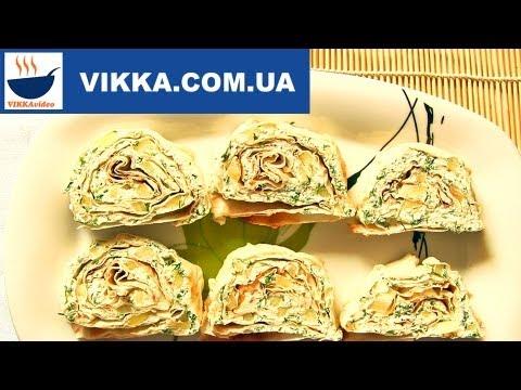 Рулетики из лаваша:Закуски на быструю руку-VIKKAvideo