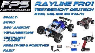 Rayline FR01 WLtoys A959 A979 FPS Review Testbericht Deutsch RC Buggy Monstertruck 4WD 1:18 50 km/h