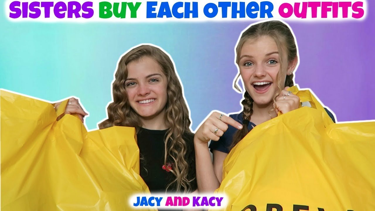 Sisters Buy Each Other Outfits ~ Shopping Challenge ~ Jacy and Kacy