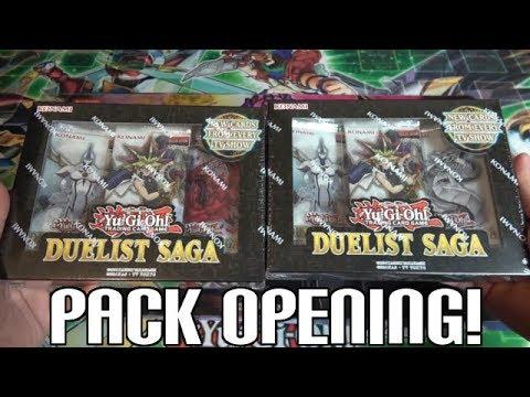 5 ULTRA RARES PER PACK! ALL HOLO! Yugioh Duelist Saga Unboxing 2 Mini Boxes!