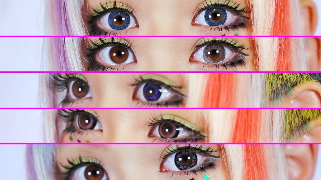 circle lenses review  favorite color contacts youtube