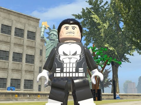 LEGO Marvel Superheroes - THE PUNISHER FREE ROAM GAMEPLAY