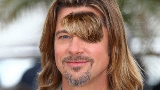 Brad Pitt Decides To Grow Out Forehead Hair