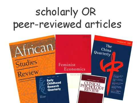 Research Minutes: How to Identify Scholarly Journal Articles