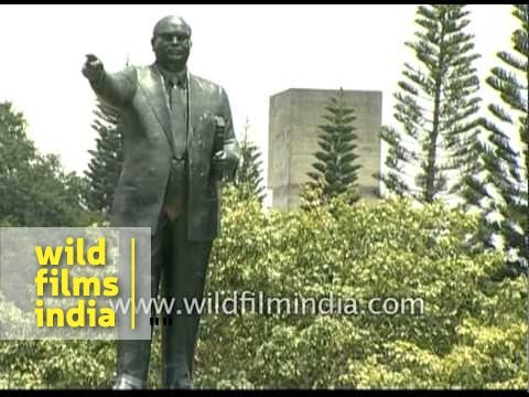 Statues of Dr. B. R. Ambedkar and Queen Victoria in Bangalore