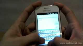 Samsung Galaxy Ace Duos user interface (Android) hands on review video