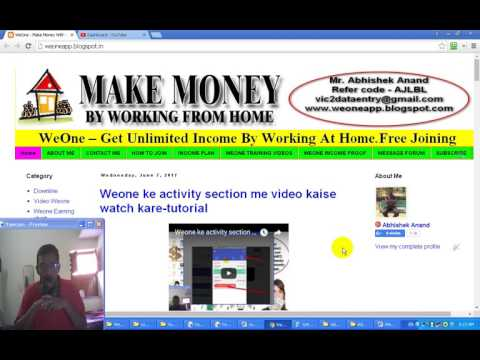 Weone activity section me Facebook page like task kaise complete kare-tutorial