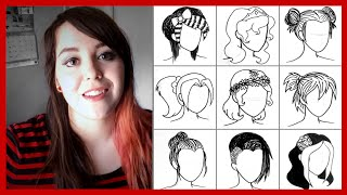 50 Hairstyle Drawings in Under 90 Seconds