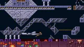 Lemmings 2 (PC) space lvl 2: 60 saved (tricky way)