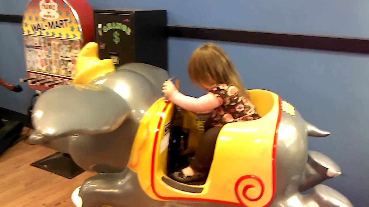 Hailie Riding Dumbo At Wal Mart Youtube