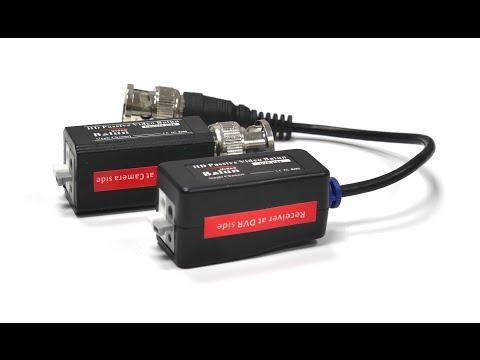 Подключаем камеру AHD и HDCVI по кабелю витая пара к видеорегистратору