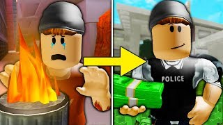 Poor To Rich: The Sad Story of James and Roger *Full Movie* ( A Sad Roblox Jailbreak Movie)