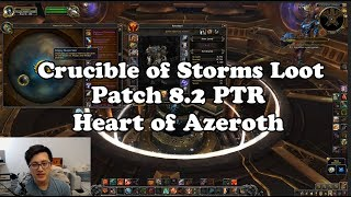 Crucible of Storms Loot and Patch 8 2 Heart of Azeroth Essences