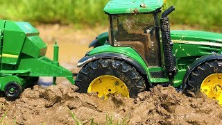 Amazing Tractor Mud Stuck! Bruder Toys Tractor for Kids in Trouble!