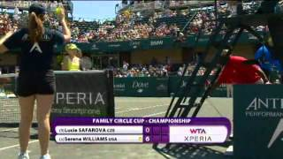 Serena Williams vs Safarova - Charleston 2012 Final - Highlights