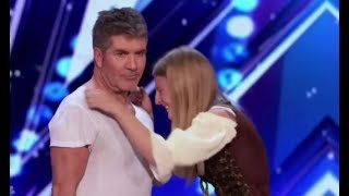 Simon Cowell Shows Amazing HEART Steps In To Save Dog Trainer | America's Got Talent 2017 by : Talent Recap