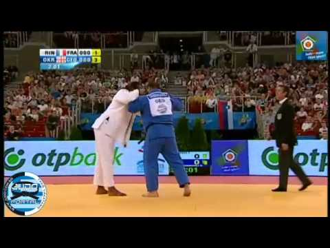 European Judo Championships Budapest 2013 Final o100kg RINER Teddy (FRA) - OKRUASHVILI Adam (GEO)