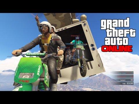 GTAV Online - ps3 - Cargo Plane & Parachute Stunting! - 2/26/14
