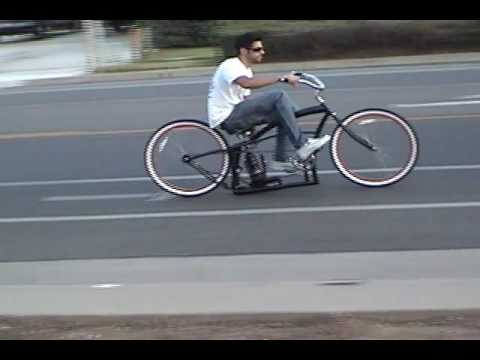 Custom Beach Cruiser Bicycle with Air Ride Suspension